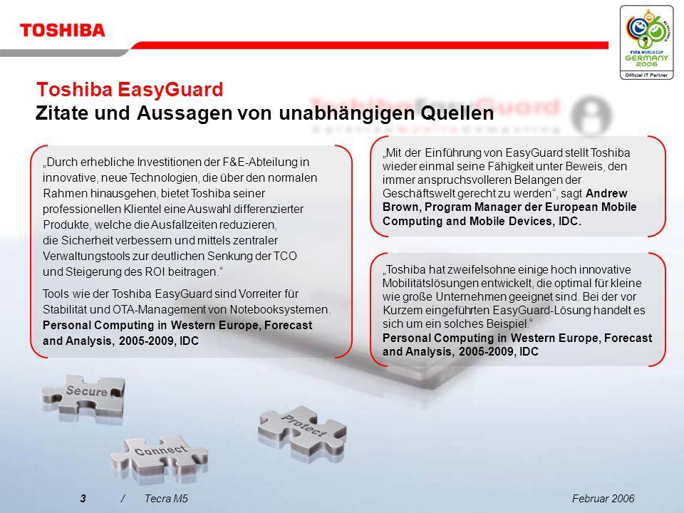 Toshiba EasyGuard Zitate und Aussagen von unabhängigen Quellen