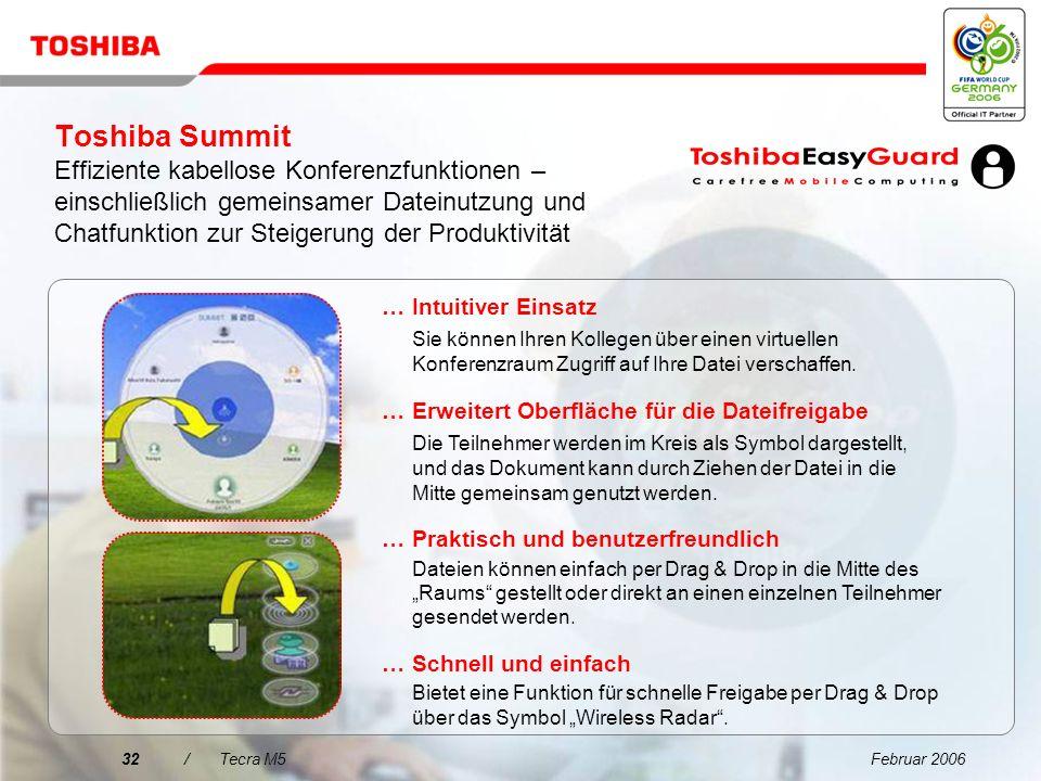 Toshiba Summit Effiziente kabellose Konferenzfunktionen – einschließlich gemeinsamer Dateinutzung und Chatfunktion zur Steigerung der Produktivität