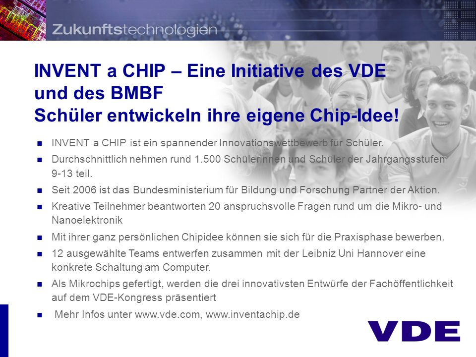 INVENT a CHIP – Eine Initiative des VDE und des BMBF
