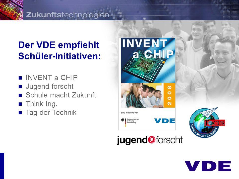 Der VDE empfiehlt Schüler-Initiativen: