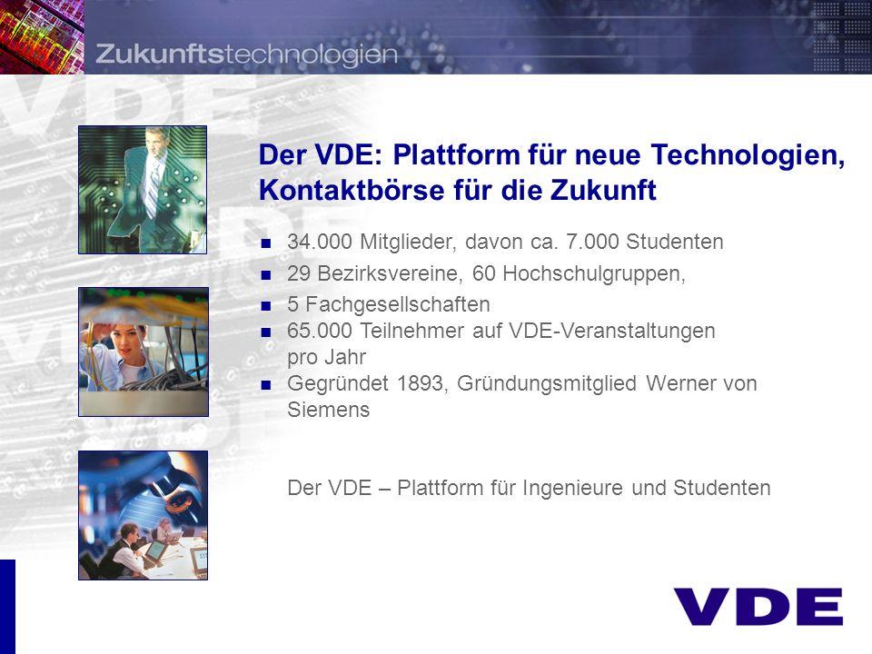 Der VDE: Plattform für neue Technologien, Kontaktbörse für die Zukunft