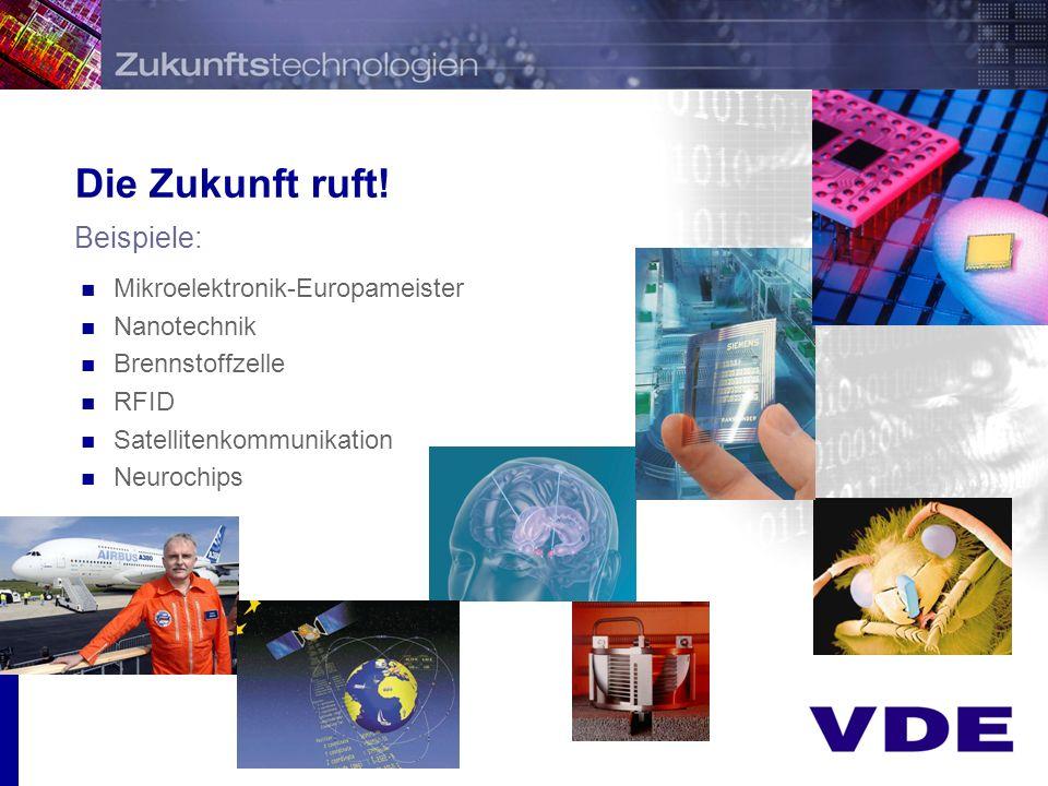 Die Zukunft ruft! Beispiele: Mikroelektronik-Europameister Nanotechnik