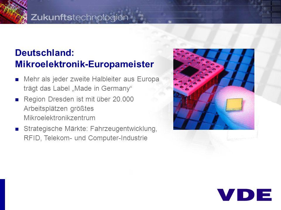 Deutschland: Mikroelektronik-Europameister