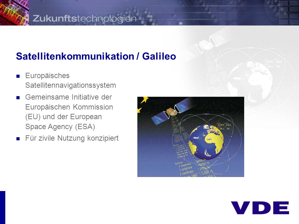 Satellitenkommunikation / Galileo