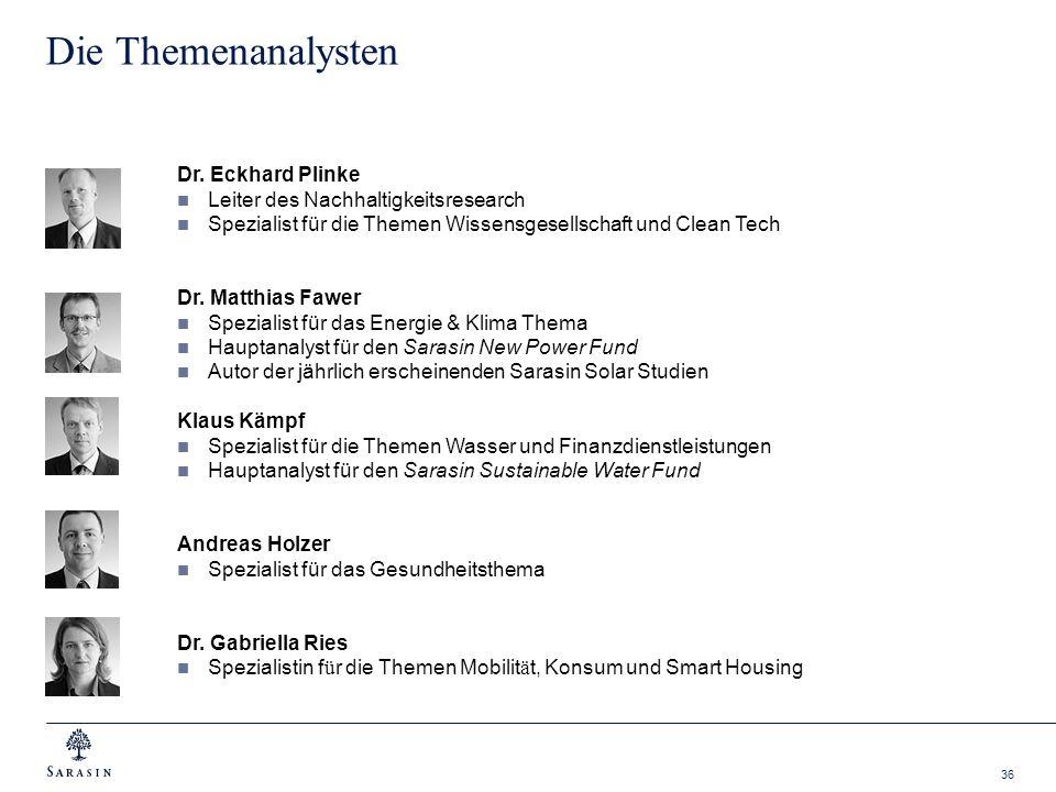 Die Themenanalysten Dr. Eckhard Plinke