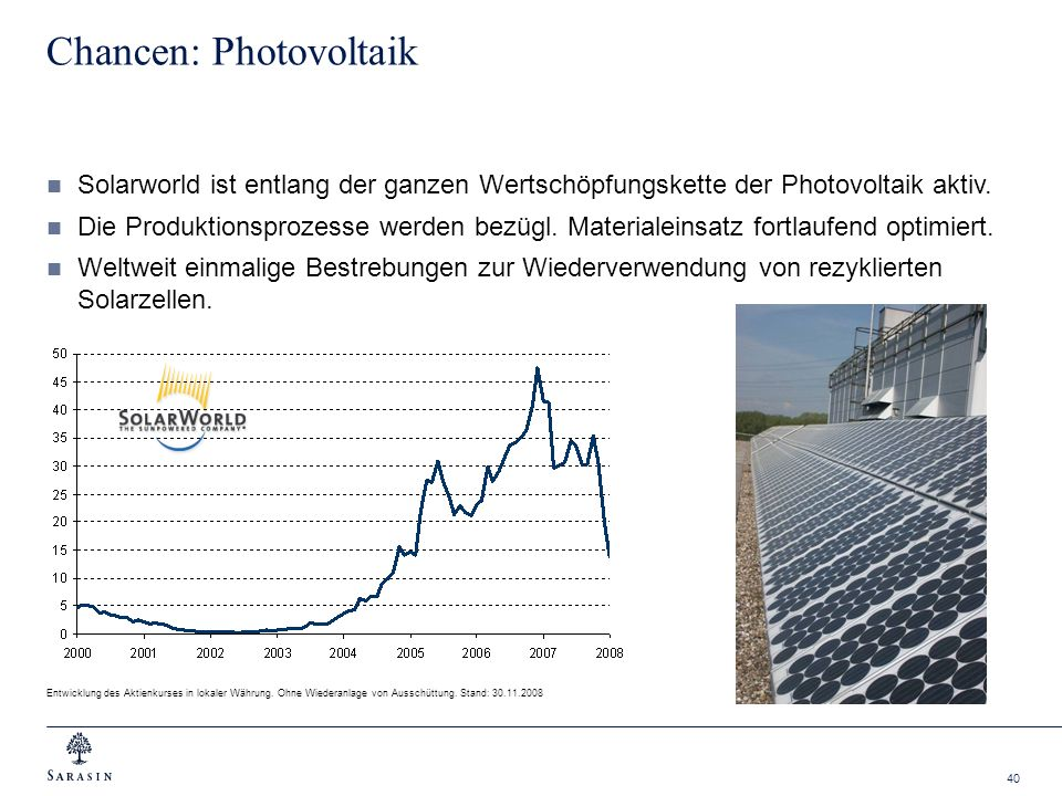 Chancen: Photovoltaik