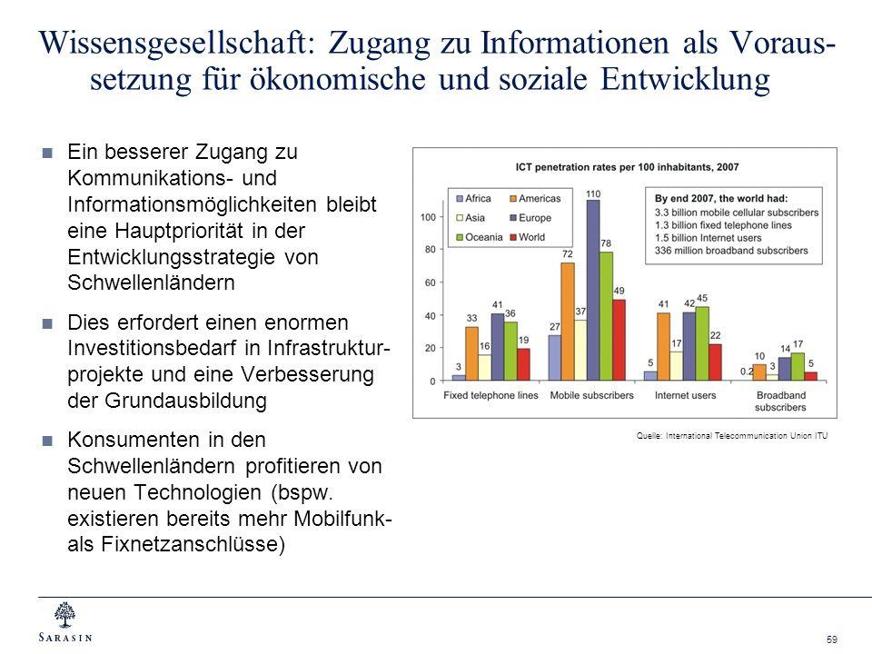Wissensgesellschaft: Zugang zu Informationen als Voraus-setzung für ökonomische und soziale Entwicklung