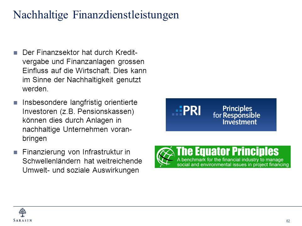 Nachhaltige Finanzdienstleistungen