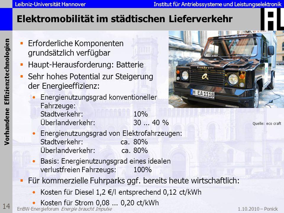 Elektromobilität im städtischen Lieferverkehr