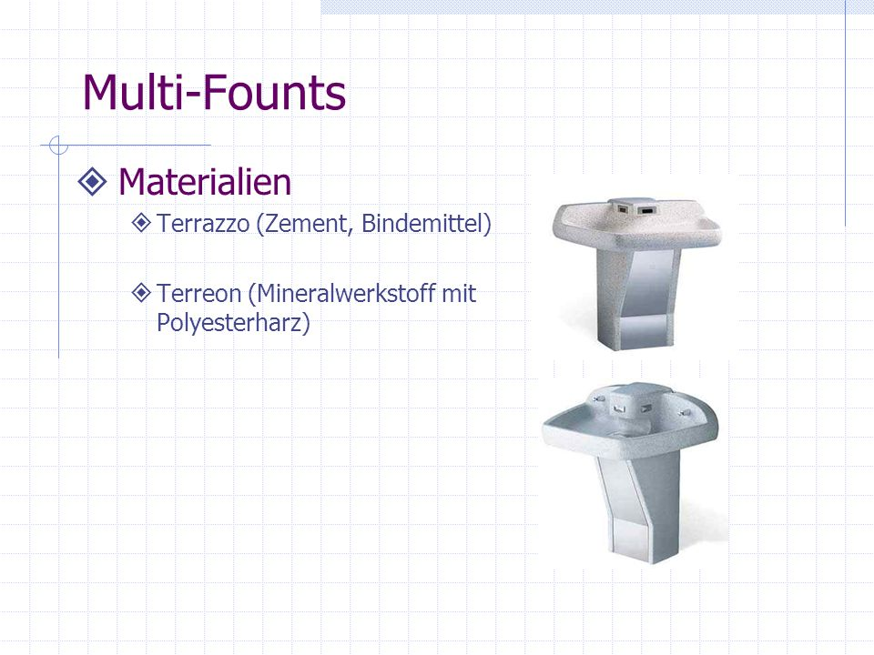 Multi-Founts Materialien Terrazzo (Zement, Bindemittel)