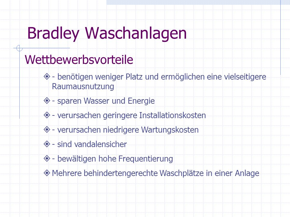 Bradley Waschanlagen Wettbewerbsvorteile