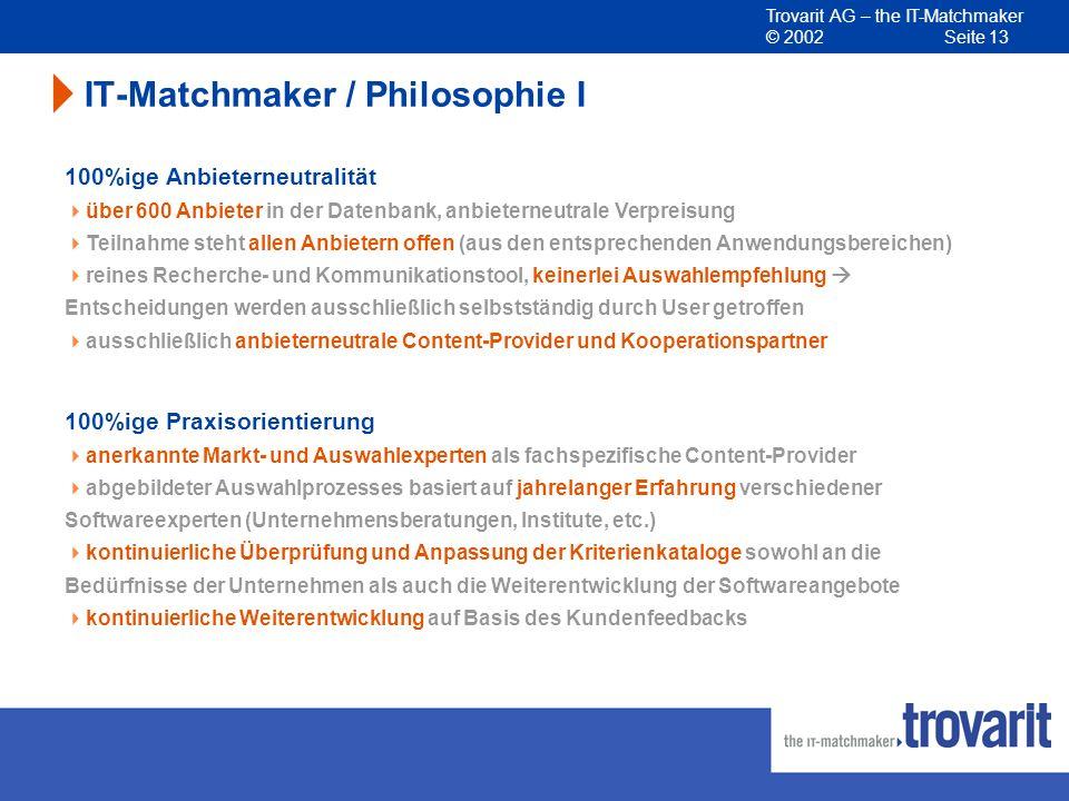 IT-Matchmaker / Philosophie I