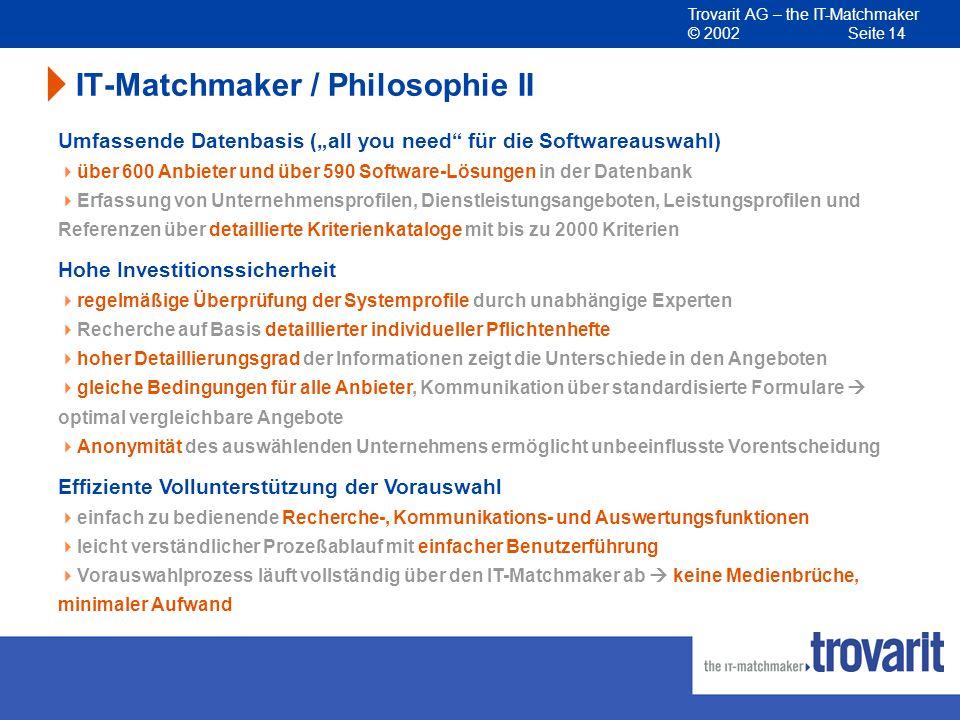 IT-Matchmaker / Philosophie II
