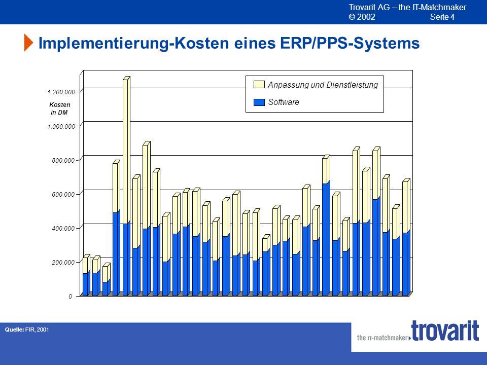 Implementierung-Kosten eines ERP/PPS-Systems