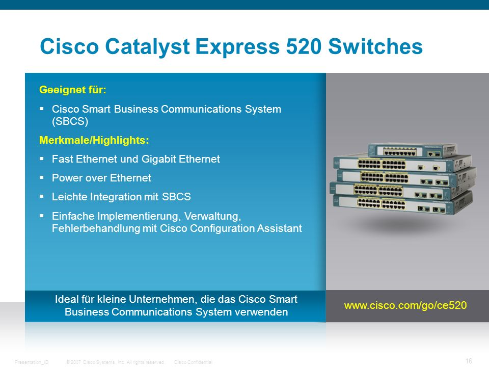 Cisco Catalyst Express 520 Switches