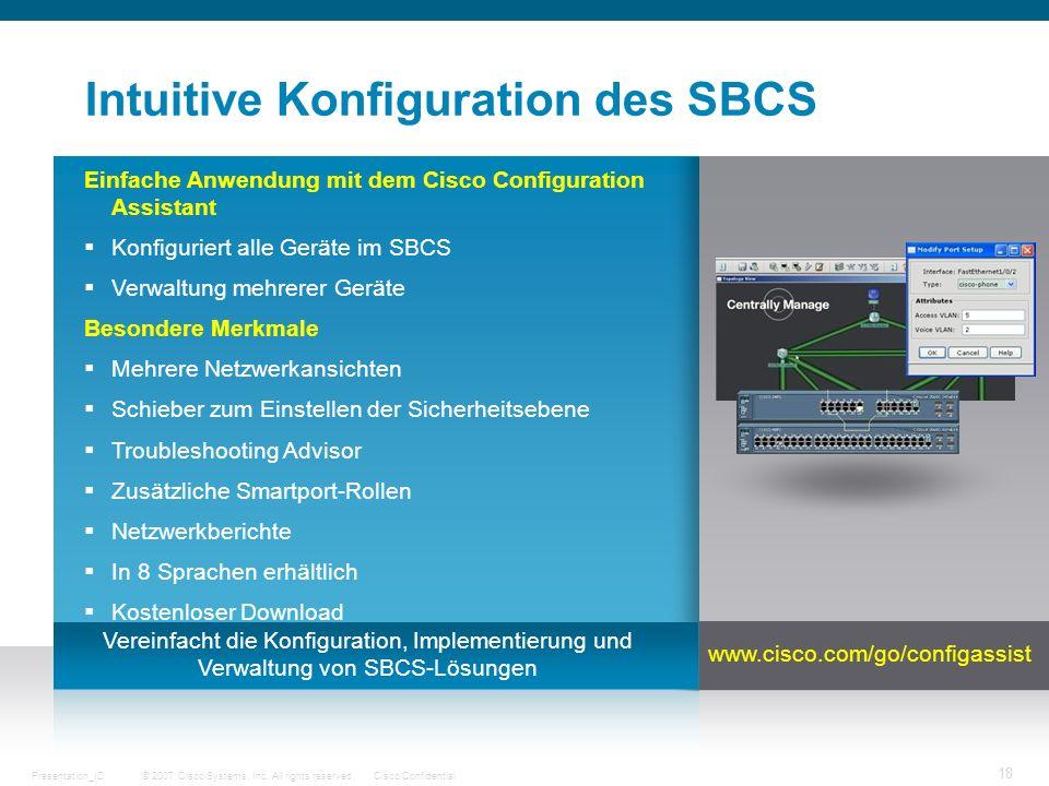 Intuitive Konfiguration des SBCS