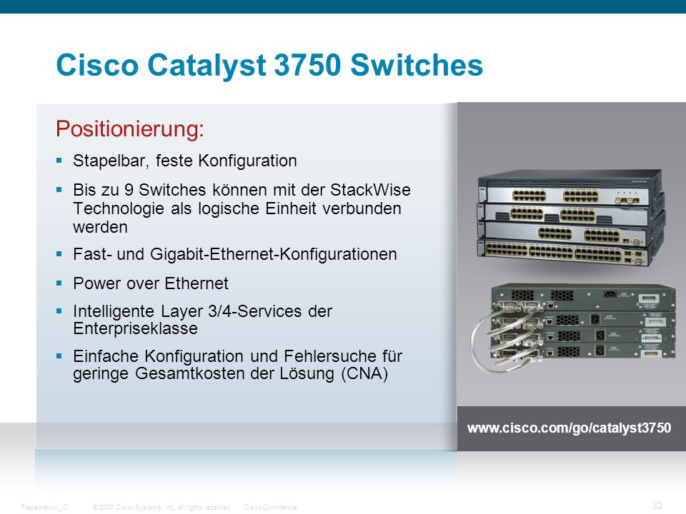 Cisco Catalyst 3750 Switches