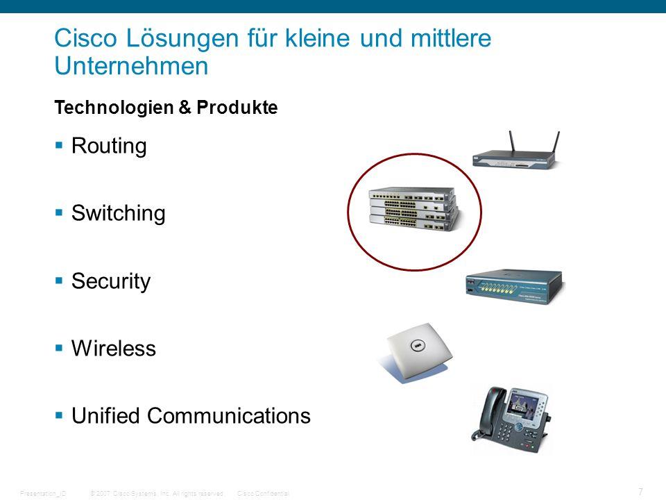 Cisco Lösungen für kleine und mittlere Unternehmen