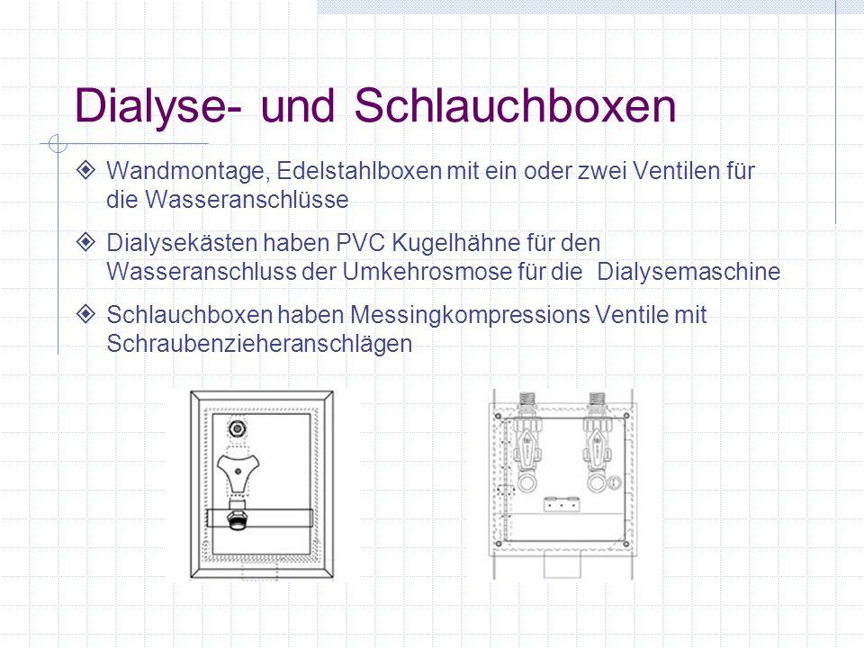 Dialyse- und Schlauchboxen