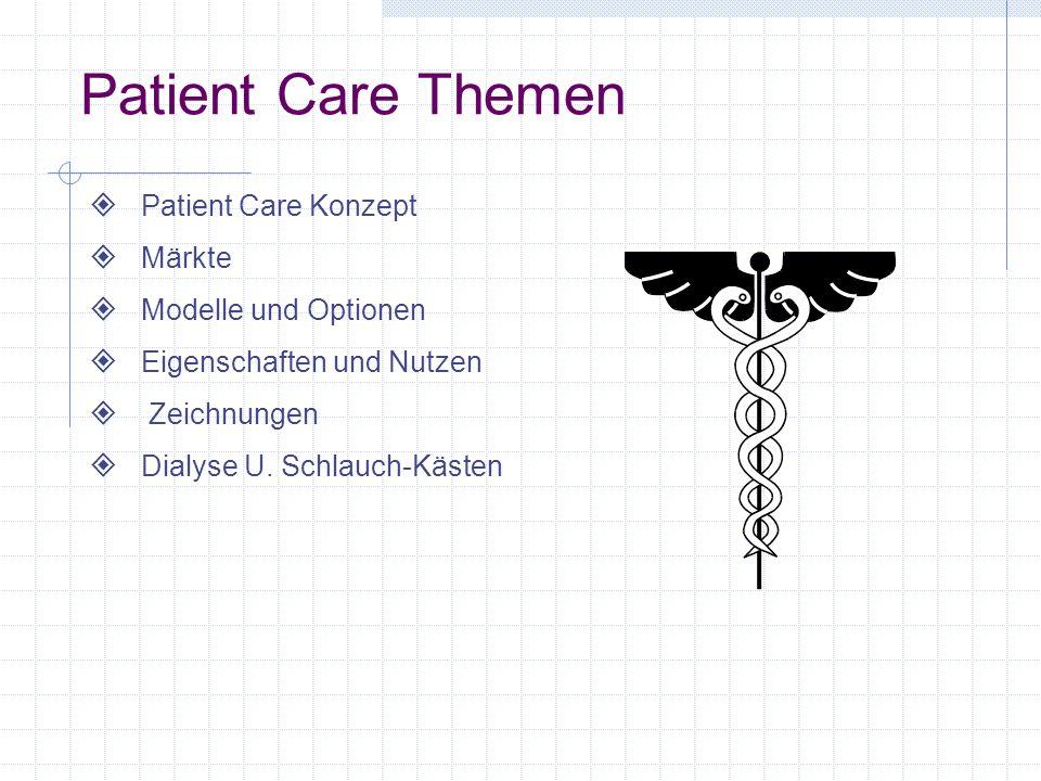 Patient Care Themen Patient Care Konzept Märkte Modelle und Optionen