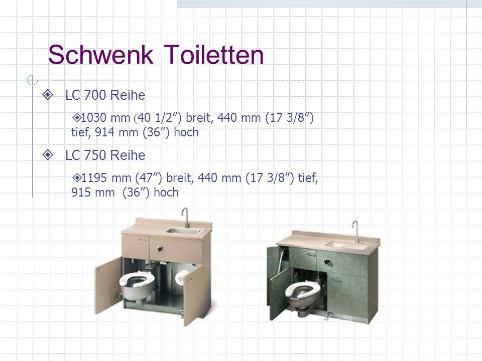 Schwenk Toiletten LC 700 Reihe LC 750 Reihe