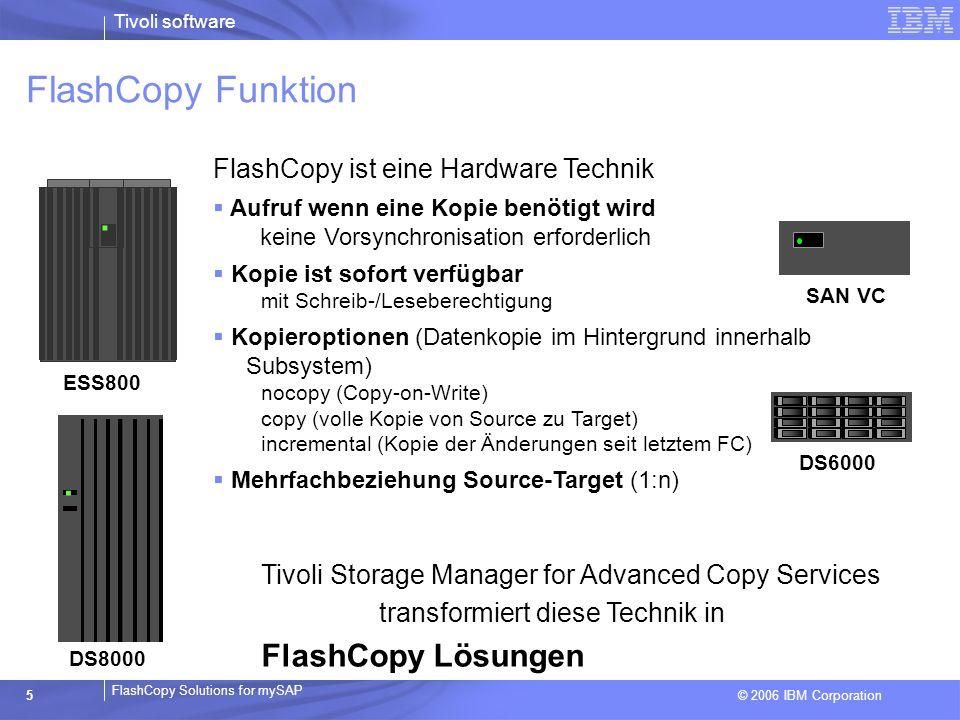 . . FlashCopy Funktion FlashCopy Lösungen