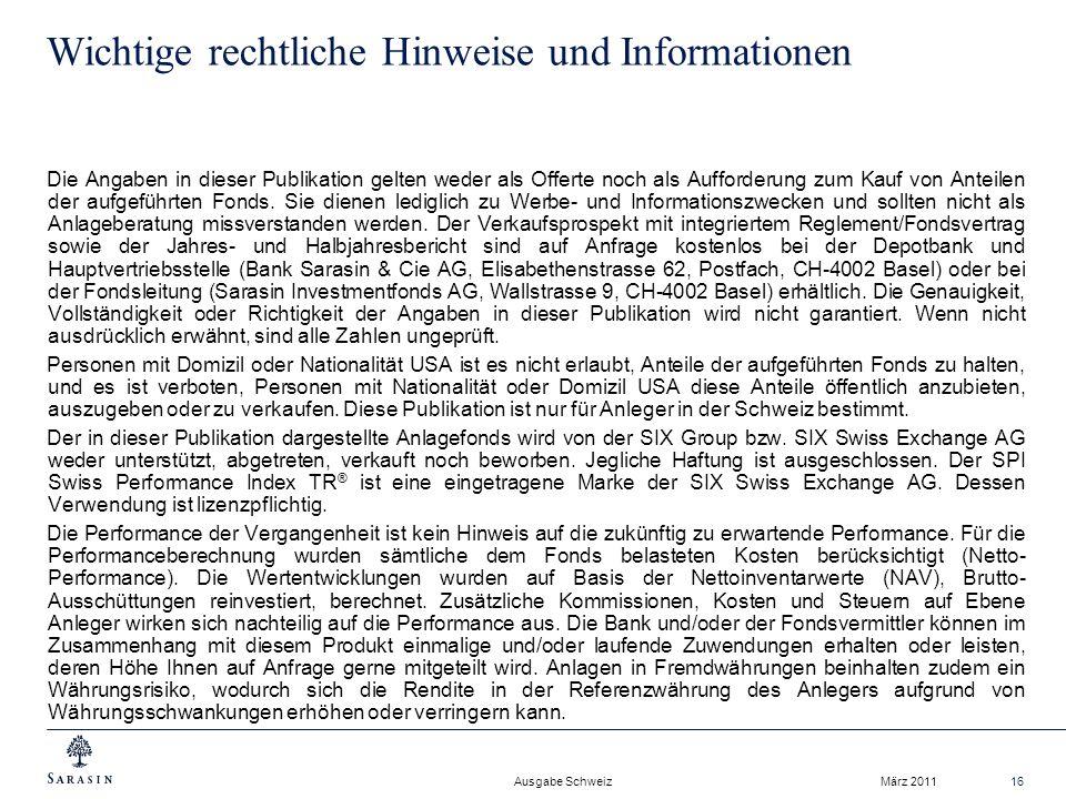 Wichtige rechtliche Hinweise und Informationen