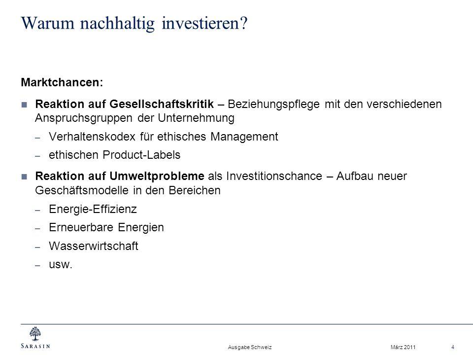 Warum nachhaltig investieren