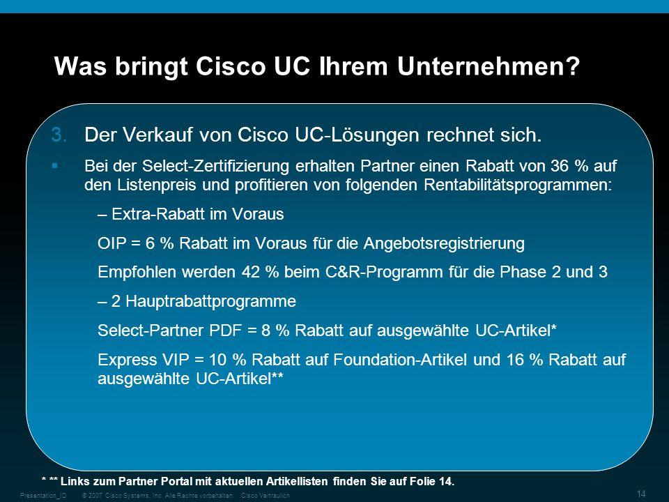 Was bringt Cisco UC Ihrem Unternehmen