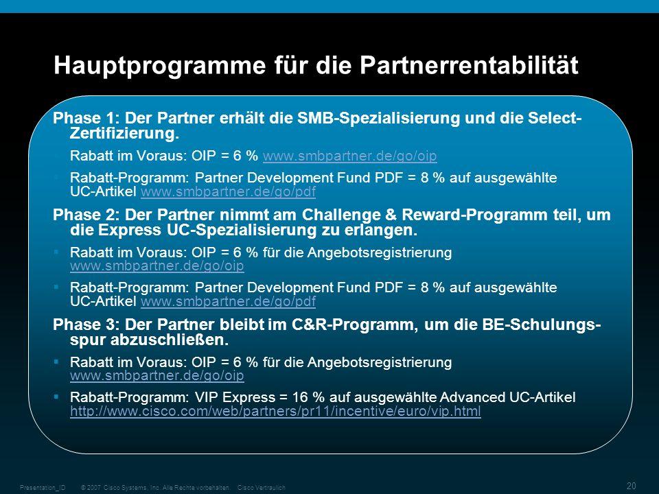 Hauptprogramme für die Partnerrentabilität