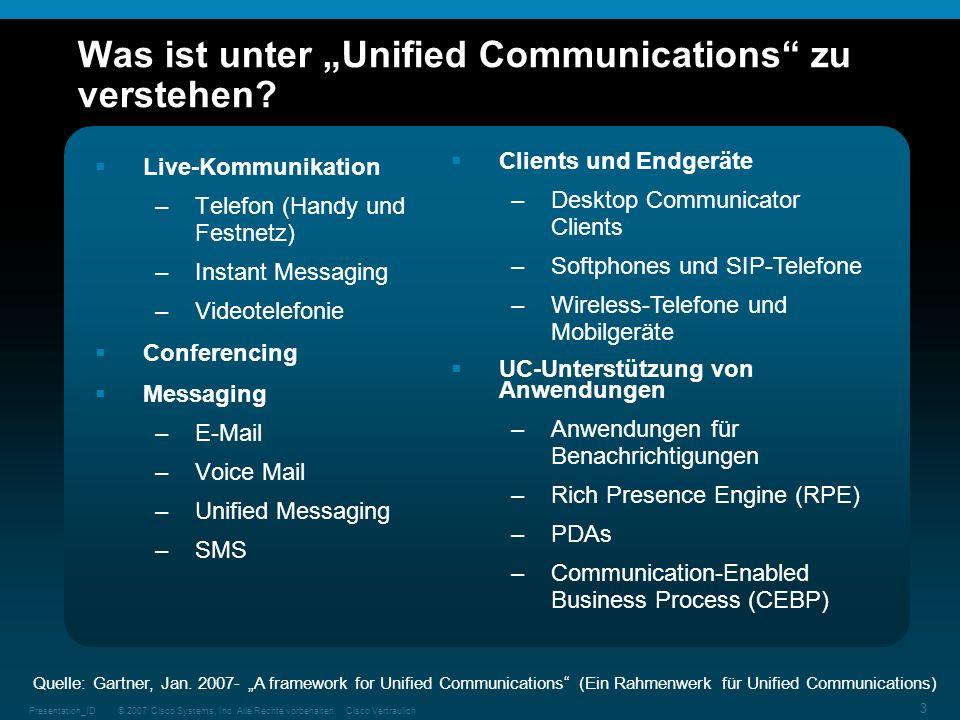 """Was ist unter """"Unified Communications zu verstehen"""