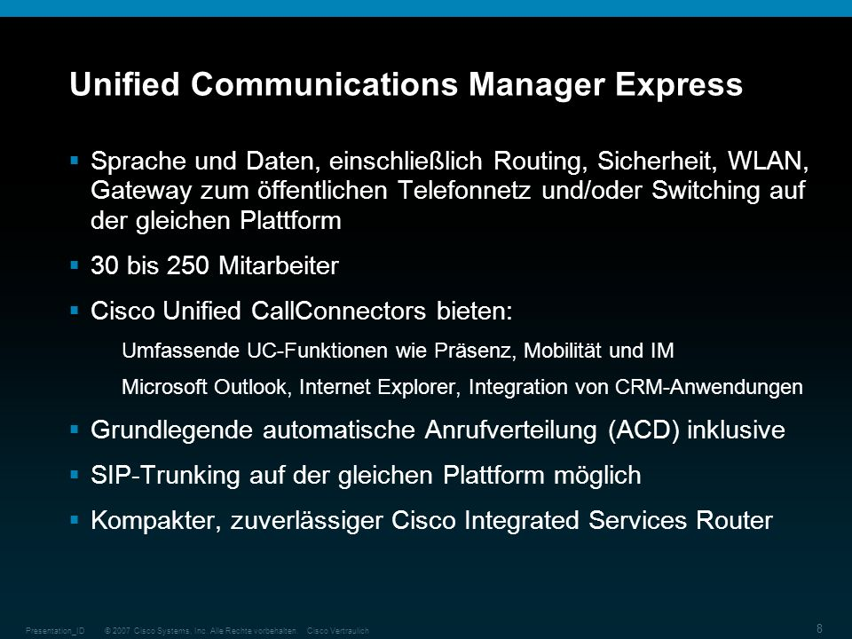 Unified Communications Manager Express