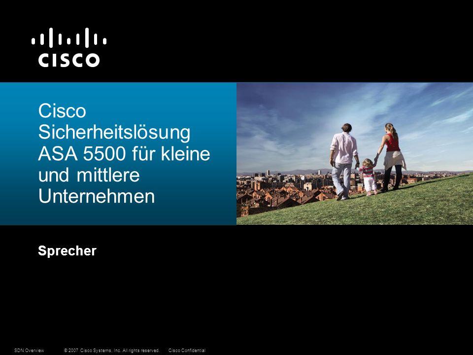 Cisco Sicherheitslösung ASA 5500 für kleine und mittlere Unternehmen