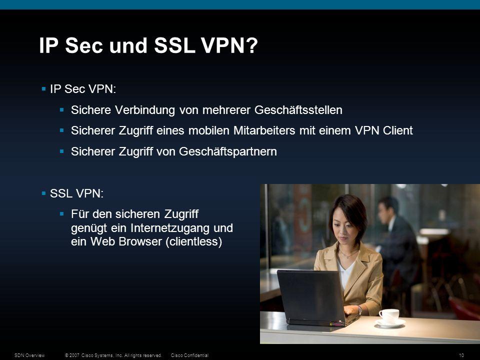 IP Sec und SSL VPN IP Sec VPN: