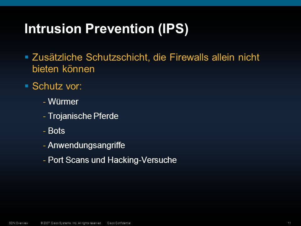 Intrusion Prevention (IPS)