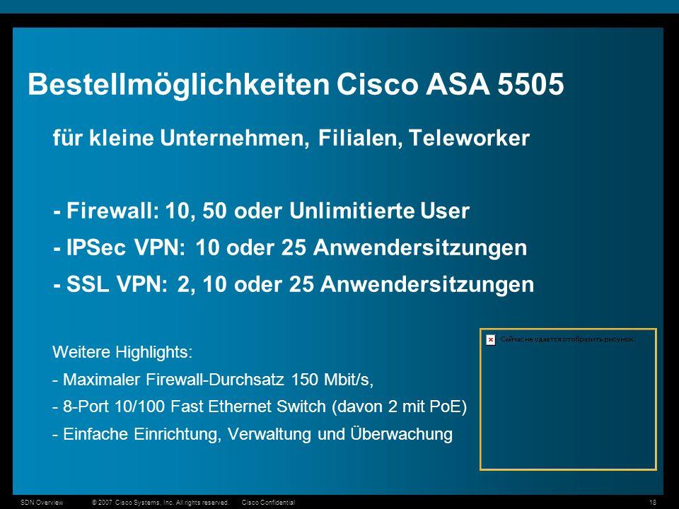 Bestellmöglichkeiten Cisco ASA 5505
