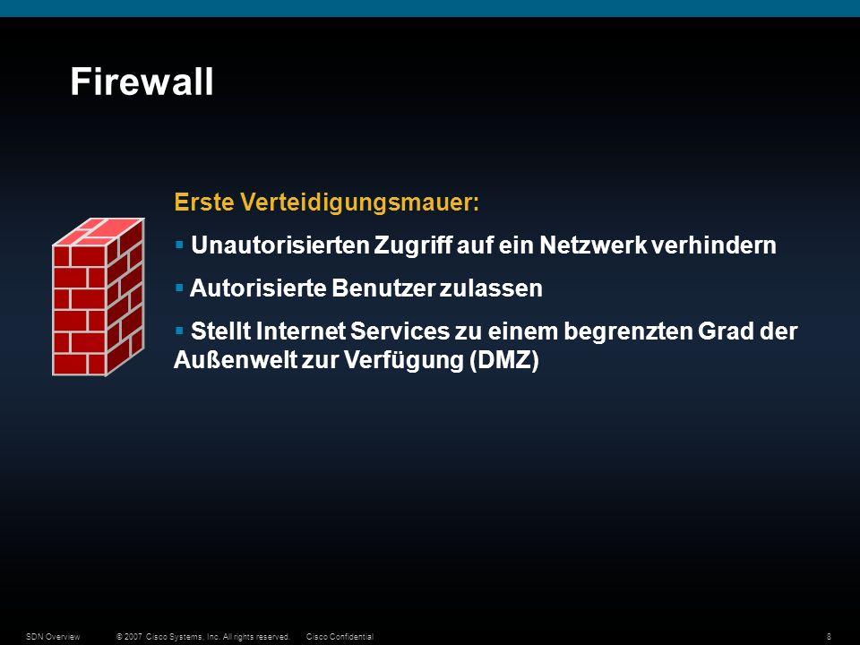 Firewall Erste Verteidigungsmauer: