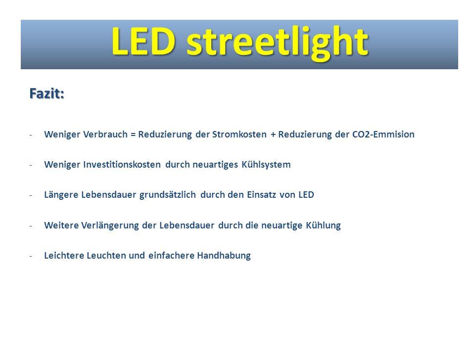 LED streetlight Fazit: