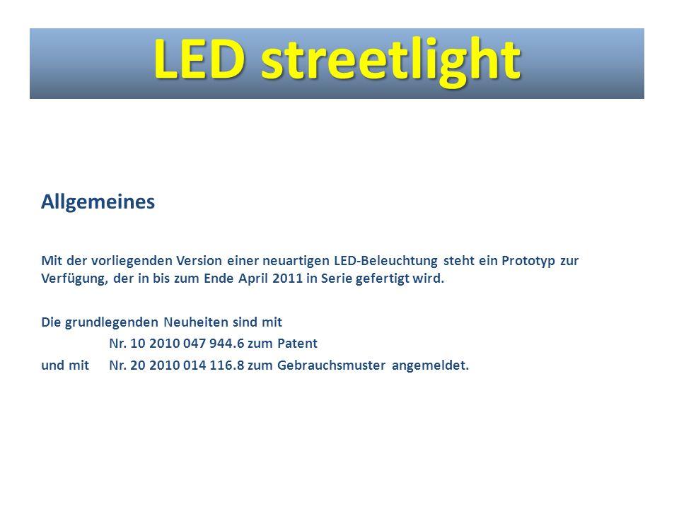 LED streetlight Allgemeines