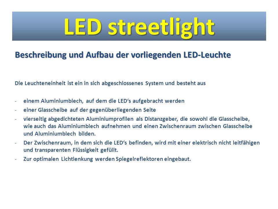 LED streetlight Beschreibung und Aufbau der vorliegenden LED-Leuchte