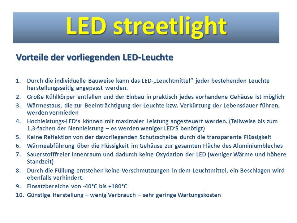 LED streetlight Vorteile der vorliegenden LED-Leuchte