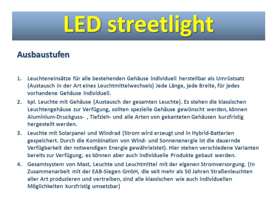 LED streetlight Ausbaustufen