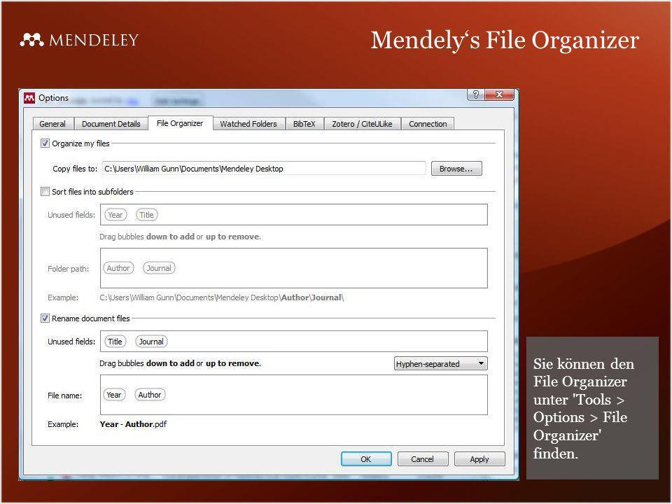 Mendely's File Organizer