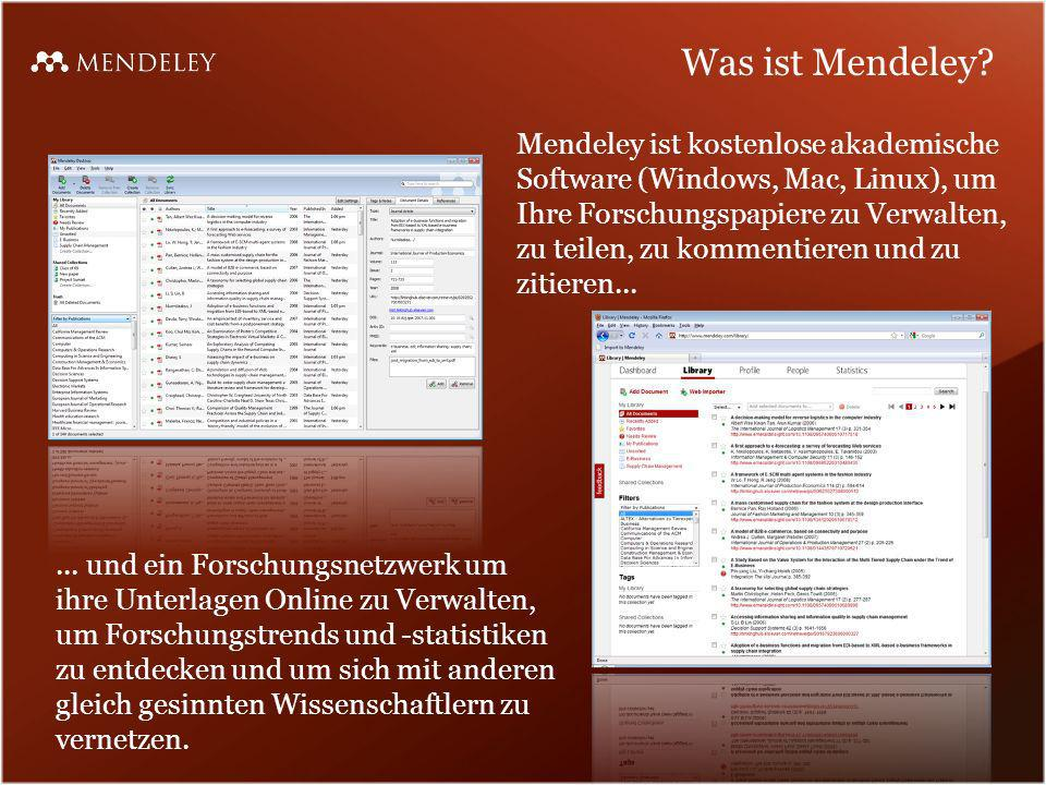 Was ist Mendeley