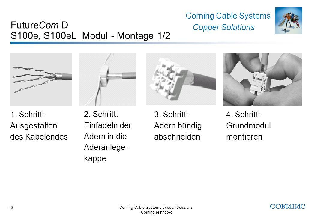 FutureCom D S100e, S100eL Modul - Montage 1/2