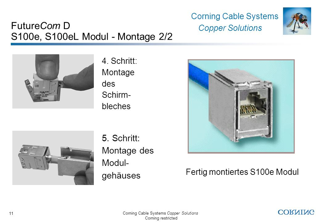 FutureCom D S100e, S100eL Modul - Montage 2/2