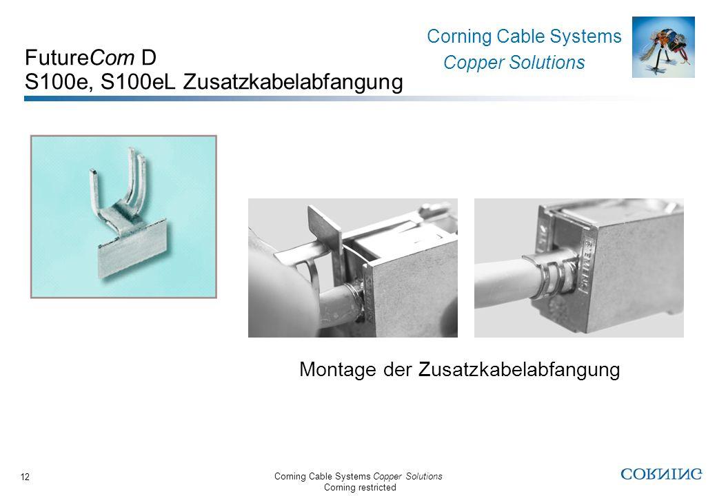 FutureCom D S100e, S100eL Zusatzkabelabfangung