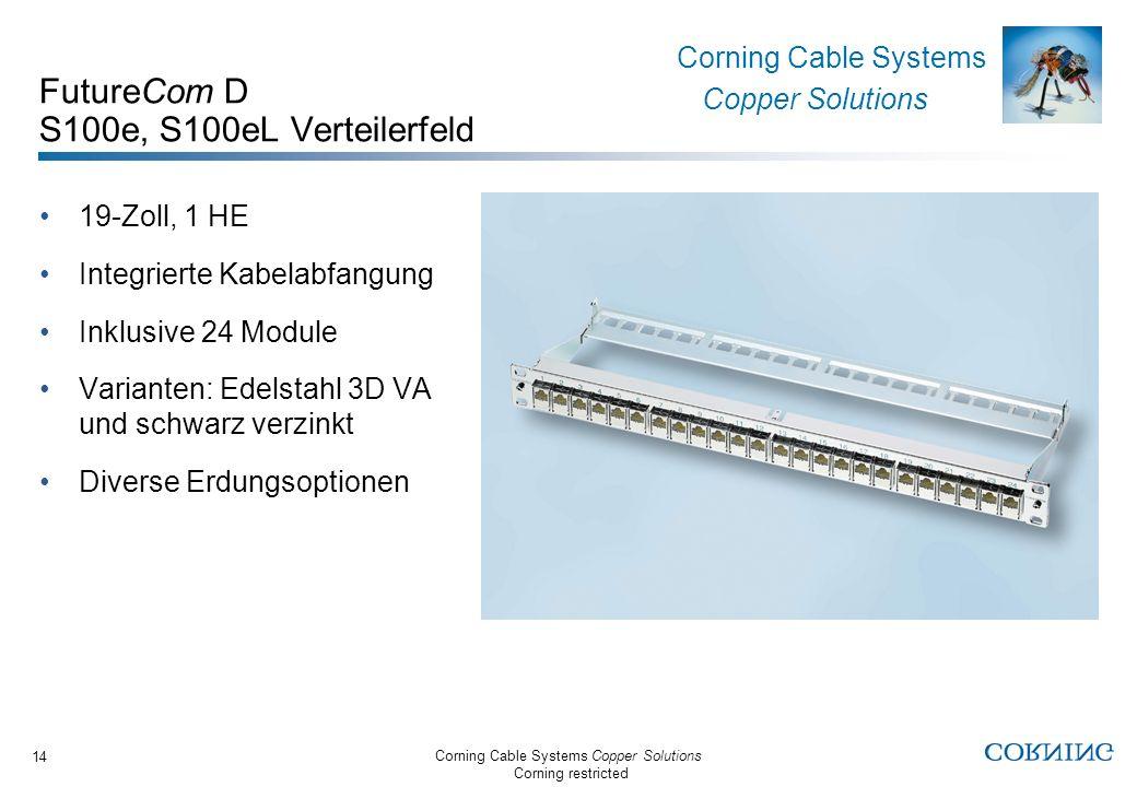 FutureCom D S100e, S100eL Verteilerfeld