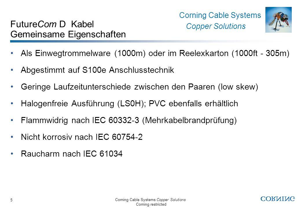 FutureCom D Kabel Gemeinsame Eigenschaften
