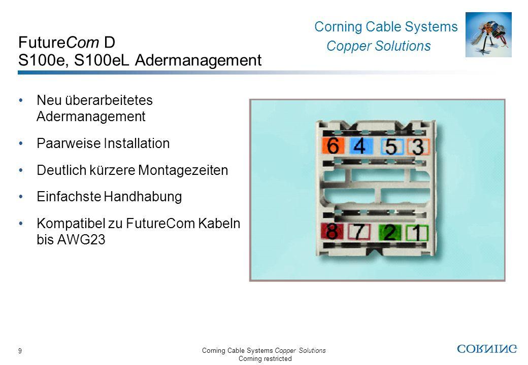 FutureCom D S100e, S100eL Adermanagement